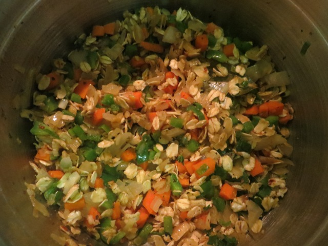 oats and veggie saute