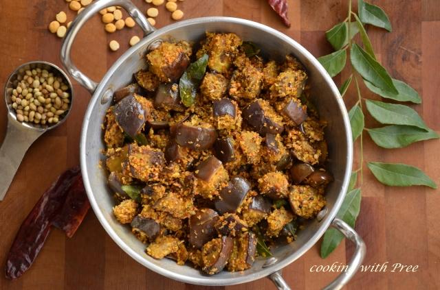 Brinjal podi idicha curry