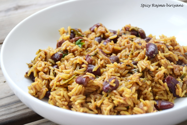 Spicy Rajma Biriyani
