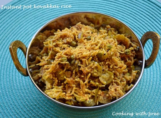 Instant pot kovakkai rice