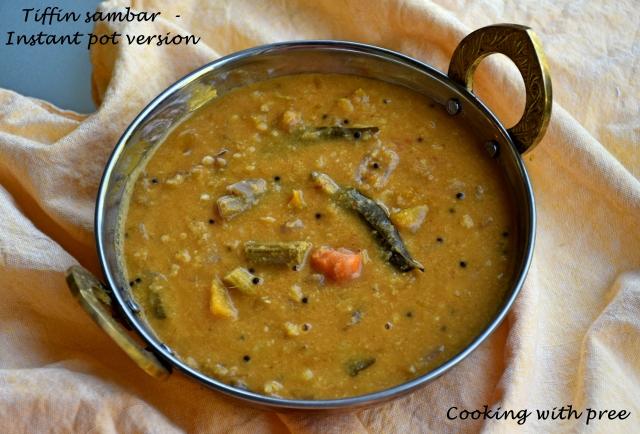 Tiffin sambar - IP recipe