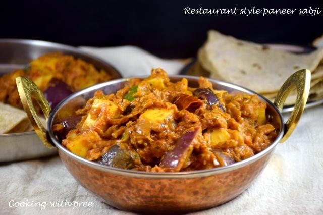 Restaurant style paneer sabji 2